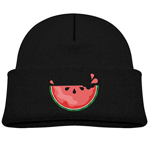 Laki-co Watermelon Print Ripped Rolled Kid Knitted Beanies Hat Boys Girls Winter Hat Knitted Skull Cap ()