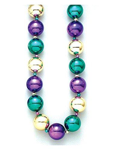 [Mardi Gras Jumbo Balls Beads] (Jumbo Mardi Gras Beads)
