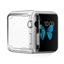 Apple Watch 2 Case, Fivefish Apple Watch TPU Screen Protector All-around Protective 0.3mm Ultra-thin Best Soft Case Cover for iWatch Series 2 Nike+ All Models 2016 (Apple Watch Series 2 Case 38mm)