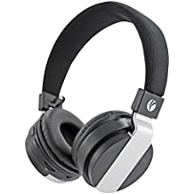 VCOM Bluetooth Headphones, Hi-Fi Stereo Foldable Wireless Headset, Noise Cancelling On Ear Earphones Built-in Mic, Wired Mode for PC/iPhone/iPad/Cell Phones/TV - Black