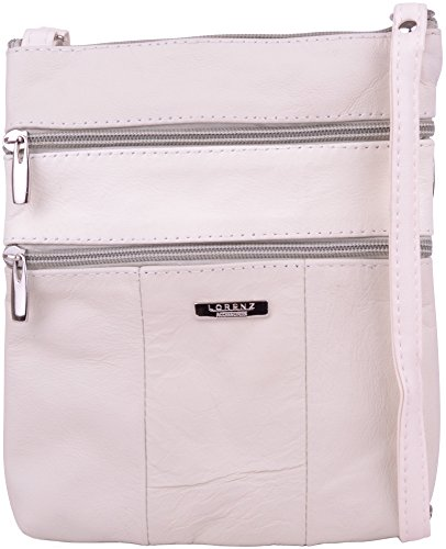 Ladies / Womens Genuine Leather Practical Shoulder / Cross Body Bag - White by WYE LEATHER