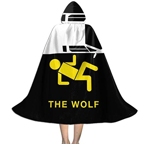 The Wolf Of Wall Street Halloween Costume (Wolf of Wall Street Minimal Unisex Kids Hooded Cloak Cape Halloween Christmas Party Decoration Role Cosplay Costumes Outwear)