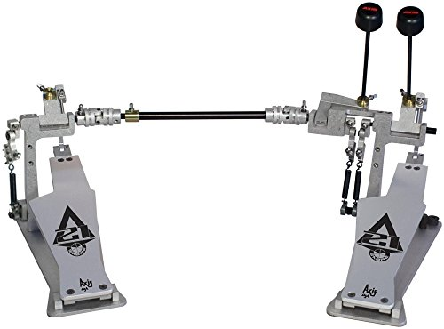 Axis Sabre A21 Double Bass Drum Pedal with Microtune Spring Tensioner Silver Axis Bass Double Bass