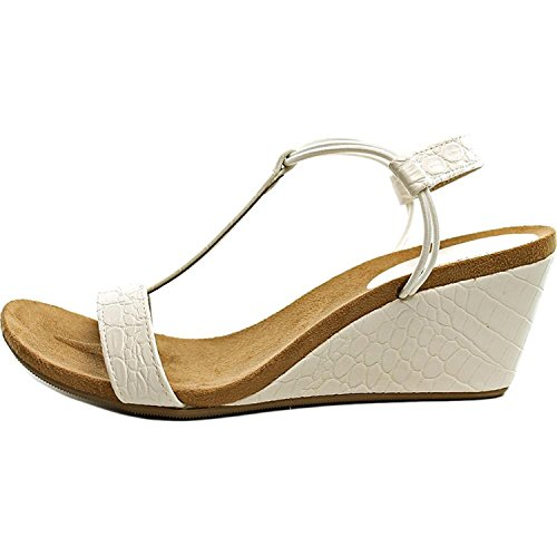 - Style & Co. Womens Mulan Open Toe Casual Platform Wedges Sandals White Size 8.0