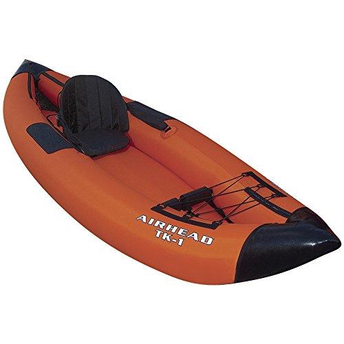 Airhead Travel Deluxe Kayak, Orange/Blue