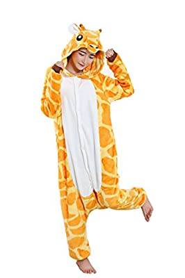 Halloween Giraffe Onesie Costume Adult Animals Giraffe Unicorn Pajamas Cute Sleepwear