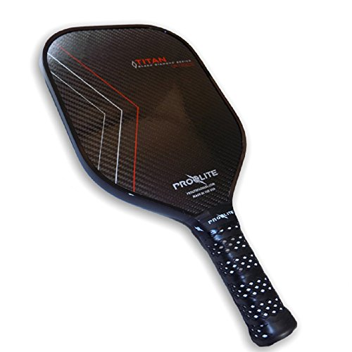 Pro-lite Titan Black Diamond Pickleball Paddle, Crimson
