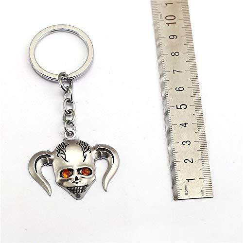 FITIONS - Anime Bleach Keychain Kurosaki Ichigo Metal Key Chains Figure Mask Key ring Holder Men Jewelry Car Handbag Accessories