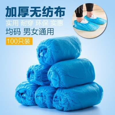 Zanbase talla /única extra gruesas resistentes al agua y antideslizantes Juego de 100 fundas desechables para zapatos y para botas con un dise/ño duradero