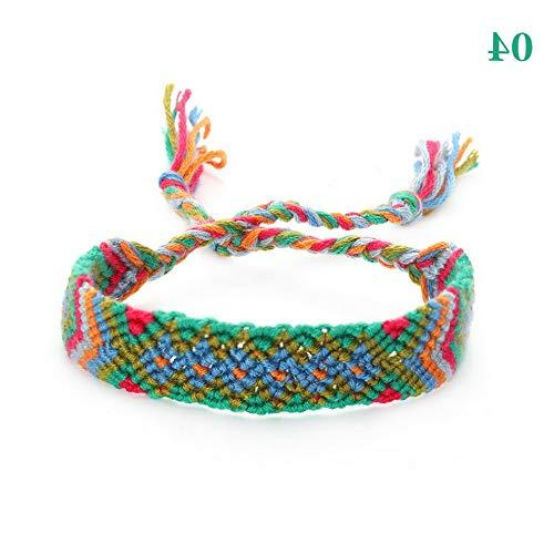 Werrox Beach Hand Weave Charm Braided String Rope Friendship Bracelets Ethnic Jewelry | Model BRCLT - 23221 | 4