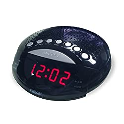 NAXA Electronics NRC-170 PLL Digital Dual Alarm Clock with AM/FM Radio and Snooze (Black Lacquer)