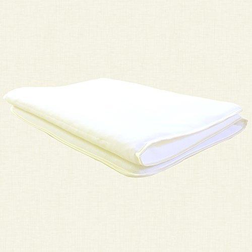 眠り姫 高弾発 パラレーヴTM 20mm 敷パッド ダブル ホワイト ハード ダブルラッセル 日本製 B012CDI1P8 ダブル|ホワイト ホワイト ダブル