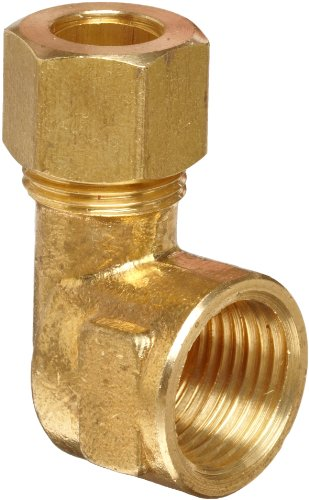 Anderson Metals Brass Tube Fitting, Elbow, 3/8