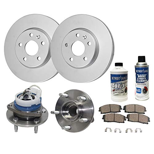 (Detroit Axle - Front Wheel Bearing Hub Assembly and Disc Brake Rotor w/Ceramic Pad Kit for 00-04 LeSabre - [97-05 Park Avenue] - 97-05 Deville - [00-04 Impala/Monte Carlo] -)