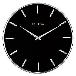 Bulova Metro Wall Clock, Black
