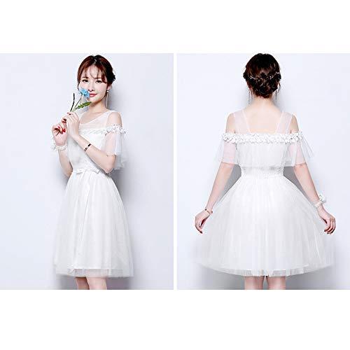 ce05bd4e3892 DonnaFormale Sera Festa 3 Elegante 5 Bianco Dazisen Vestito D onore Per  Nozze Damigella Disponibili Stili Da Abito 9DH2YWEI