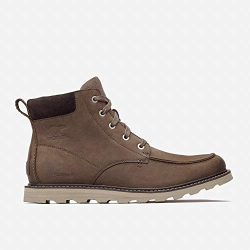 Sorel - Men's Madson Moc Toe Waterproof Boot, All-Weather Footwear for Everyday Wear, Major, Buffalo, 11.5 M - Toe Waterproof Boots Plain