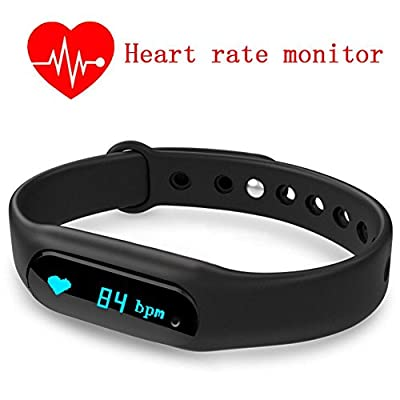 XIHE Smart Watch Smartband Wristbands with Heart Rate Monitor Fitness Tracker Calorie Counters Sleep Monitor Pedometer Waterproof Bluetooth Health Fitness Band Touch Screen for iOS and Android