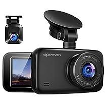 APEMAN ドライブレコーダー 前後カメラ 1440P&1080PフルHD高画質 超広角 2.7インチ液晶 常時録画 駐車監視 Gセンサー搭載 夜視機能搭載 LED信号機対応ドラレコ