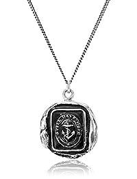"Pyrrha Talisman Men's Sterling Silver Anchor Pendant Necklace, 22"""