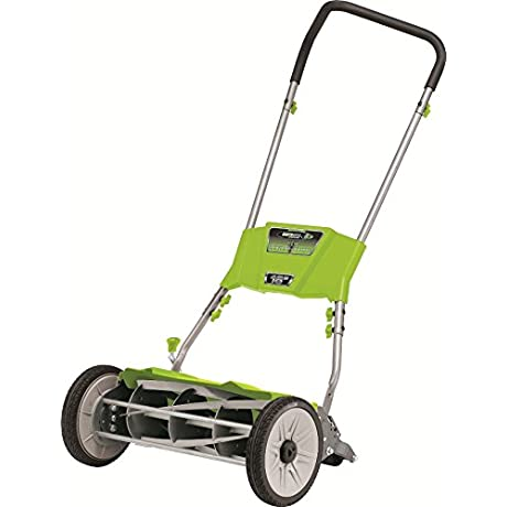 Earthwise 515 18 18 Inch Quiet Cut Push Reel Lawn Mower