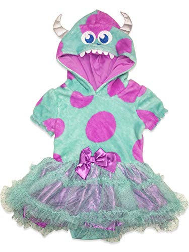 Disney Pixar Monster's Inc. Sulley Infant Baby Girls' Costume Bodysuit Dress 12M