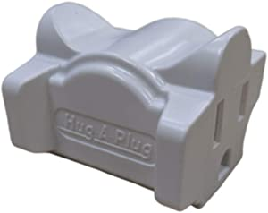 Hug-A-Plug Grounded Right Angle Adapter Plug - White [15a 125v Current Tap]