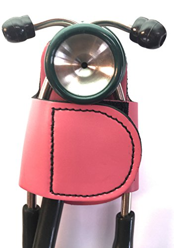 The BATCLIP (PINK) – Premium leather handmade clip-on stethoscope hip holder; no more neck carrying, loss, or misplacement. Proudly carry your high-end stethoscope with taste and (Nursing Accessories)