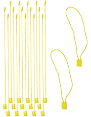 Tupalizy 100PCS Nylon Hang Tag String for Clothing Bountique Jewelry Price Tags 7 Inch Snap Lock Pin Loop Fastener Hook Ties Tag Rope for Crafts Belts Pocket Squares Luggage Label Attachment
