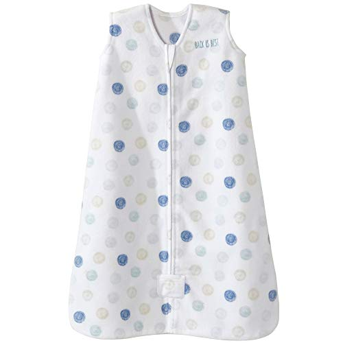 Halo Sleepsack Microfleece Wearable Blanket, Swirl Circles Blue, X-Large