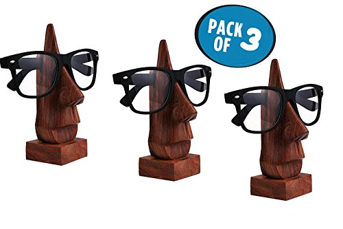 Wooden Spectacle Holder, Eyewear Holder, Eyeware Retainer Holder, Sunglasses Stand, Goggles Holder, Set of Three Thanks Giving or Christmas - Online Eyeware