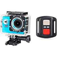 ESCENERY New Full HD 1080P 32G WIFI H16R Action Sports Camera Camcorder Waterproof+Remote+1200 Million High-Definition Wide-Angle Lens. (Blue)