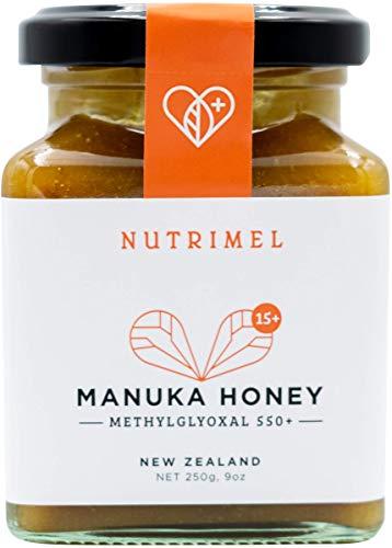 NUTRIMEL Manuka Honing 15+ (MGO 550+) getest en gecertificeerd 100% Puur Nieuw-Zeeland | (15+, 250g)