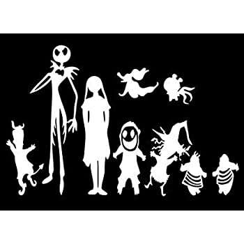 amazon 12 stick figure family your stick figure family pet cat Windows Server 2008 disney nightmare before xmas jack skellington and family vinyl for laptops and windows halloween decal sticker 7 inches silver