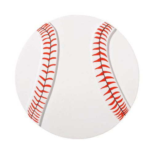 Darice 9199-42 Natural Painted Wood Cutout, Large Baseball (Baseball Cutout)