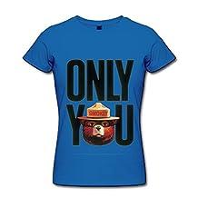 Women's Smokey The Bear Only You T-shirt Size L RoyalBlue