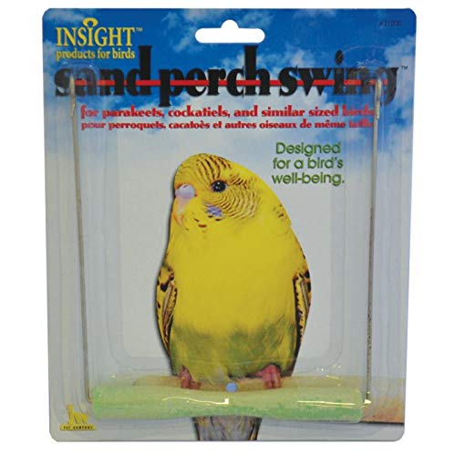 JW Pet Company Insight Sand Perch Swing Bird Toy, Small, Assorted