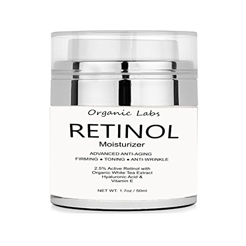 Organic Labs Retinol Eye Gel with Best Natural Ingredients: Hyaluronic Acid, Retinol, Organic Shea Butter, Organic White Tea, Vitamins for Anti-Aging + Anti-Wrinkle, Even Skin Tone 1.7oz