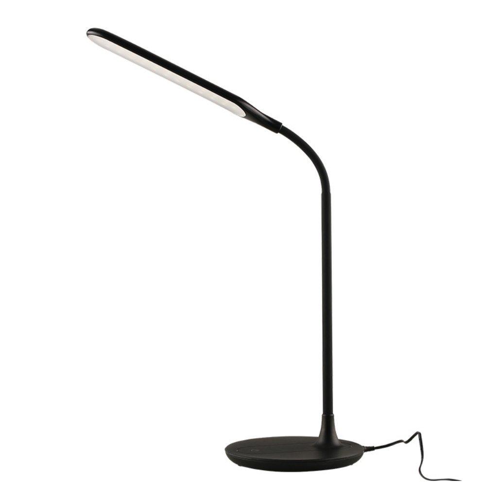 Schwarz HAGDS Kreative Minimalistische LED Auge Tischlampe Diy Rotary Dimmbare Schreibtisch Student Schreibtischlampe Schlafzimmer Nachttischlampe Einfache (Farbe   Schwarz)
