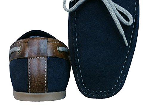 Daim Chaussures En Homme Red Pour Tape Navy Sandy ZEFAI