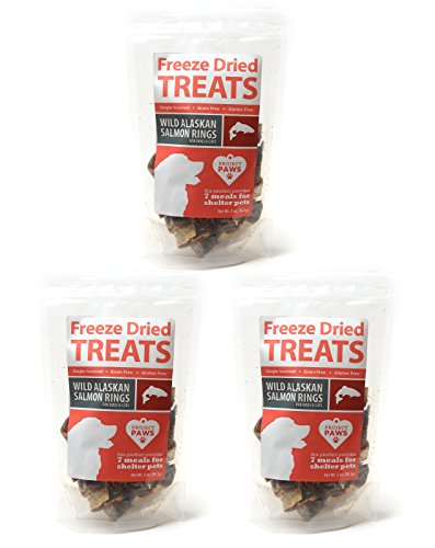 Project Paws Wild Salmon Rings Freeze Dried Treats for Dogs