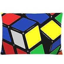 PbP Magic Cube,Rubik'S Cube,Cube Puzzle One Side Pillowcase,Pillowcover 20 X 30 Inch