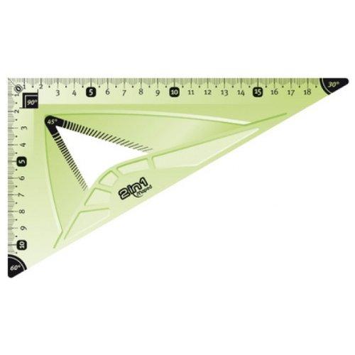 45 degr/és 60 degr/és plus long c/ôt/é Maped Equerre Flex 2 in 1 210 mm incassable