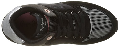 Pepe Jeans London Sydney Boot Camu, Zapatillas Altas Para Niñas Negro (Black)