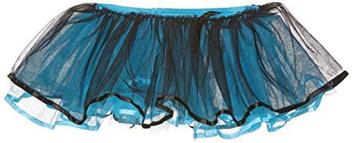 - Leg Avenue Reversible Ribbon Trimmed Tutu Skirt, Black/Blue, One Size