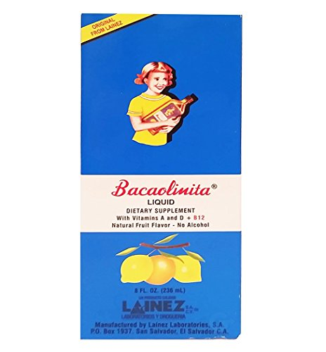 Lainez Bacaolina Adults Dietary Supplement 8 oz - Suplemento Nutricional para Adulto 8 oz (Pack of 1)