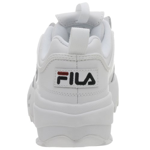 Fila mens Strada Disruptor fashion sneakers, White/Peacoat/Vinred, 12 US