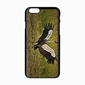 iPhone 6 Black Hardshell Case 4.7inch birds cranes grass feathers color Desin Images Protector Back Cover