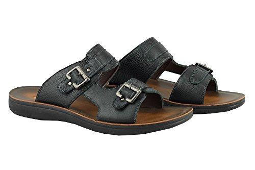 Pour Homme Dessus en cuir véritable antidérapant sur Big Taille vacances d'été Sandales de marche Chaussons