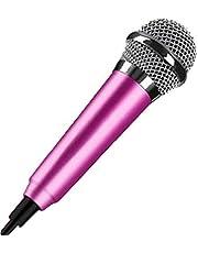 Mini-microfoon voor mobiele telefoon, met Tieline, draagbaar, microfoon, computer, om te zingen en voor opnamen, gering gewicht, aluminium, legering, geluidsreductie